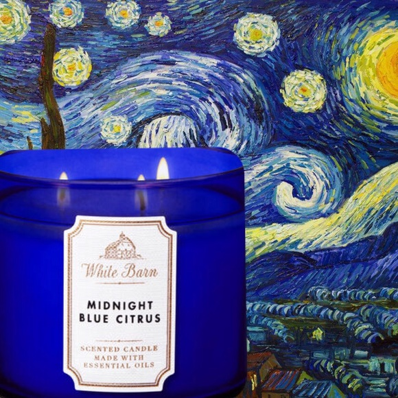 BATH /& BODY WORKS MIDNIGHT BLUE CITRUS SCENTED CANDLE 3 WICK 14.5 OZ White Barn